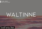 Waltinne Font