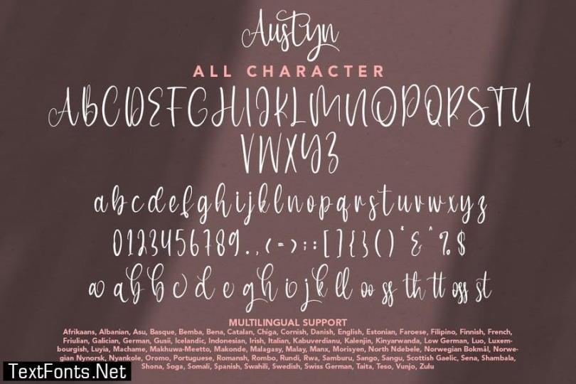 Austyn - Beauty Stylish Script