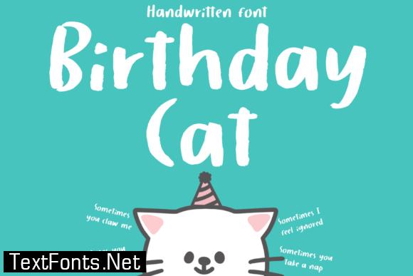 Birthday Cat Font