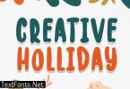 Creative Holiday Font