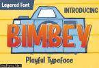 DS Bimbey - Playful Typeface