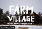 Farm Village Font