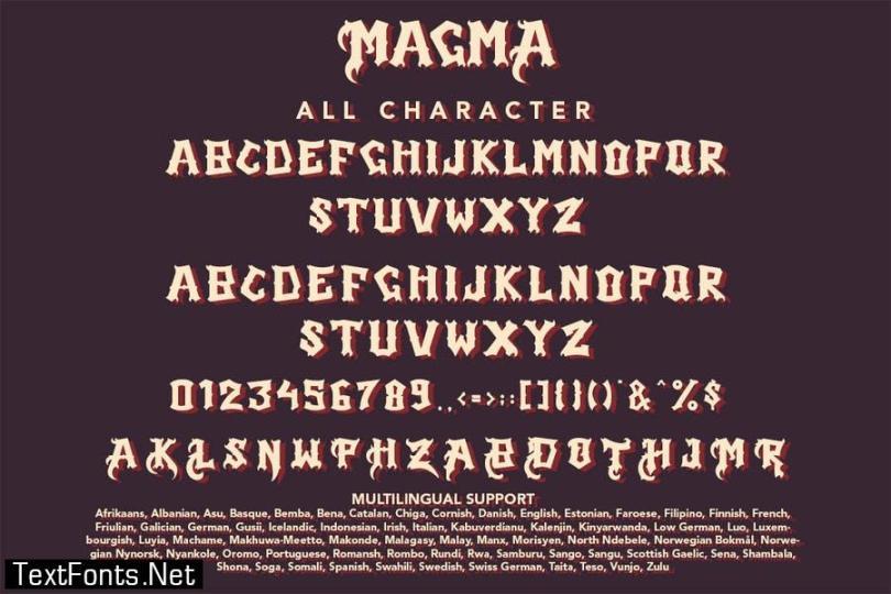 Magma - Blackletter