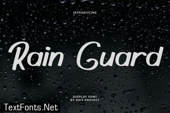 Rain Guard Font