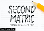 Second Matric Font