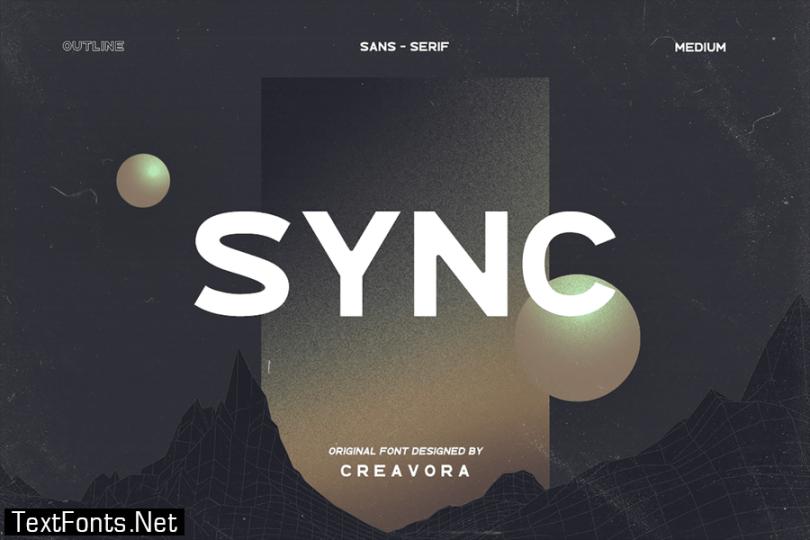 SYNC - Modern Sans Serif Font