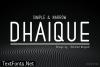 Title Dhaique Font