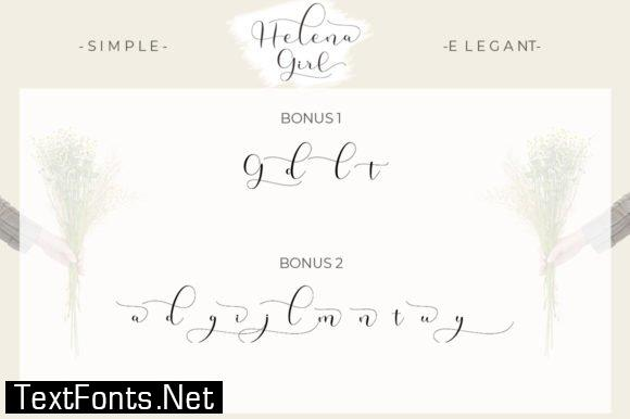 Title Helena Girl Font