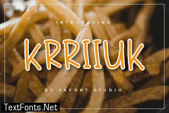 Title Krriiukk Font