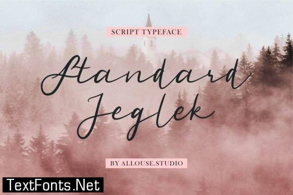 Title Standard Jeglek Font