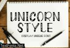 Unicorn Style Font