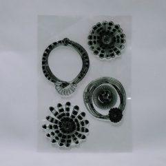 Textielverf en meer stempel 10x15cm bloemcirkel