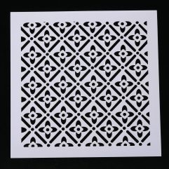 Textielverf en meer stencil 13x13cm bloembehang