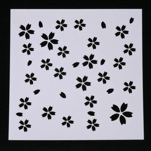 Textielverf en meer stencil 13x13cm bloemetjes