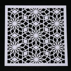 Textielverf en meer stencil 13x13cm bloemster