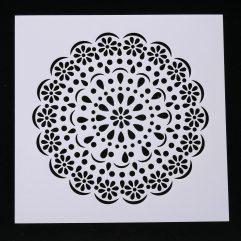 Textielverf en meer stencil 13x13cm bloemtaart
