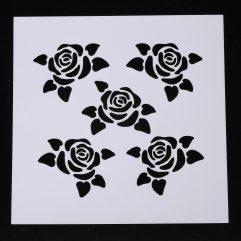 Textielverf en meer stencil 13x13cm rozen