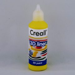 Textielverf en meer Creall 3D liner 01 geel 80ml