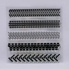 Textielverf en meer stempel bandensporen