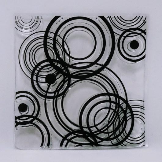 Textielverf en meer stempel cirkels