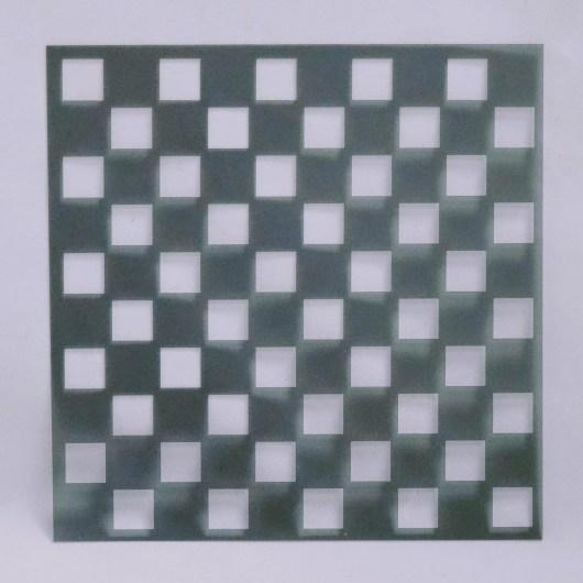 Textielverf en meer stencil 15x15cm dambord