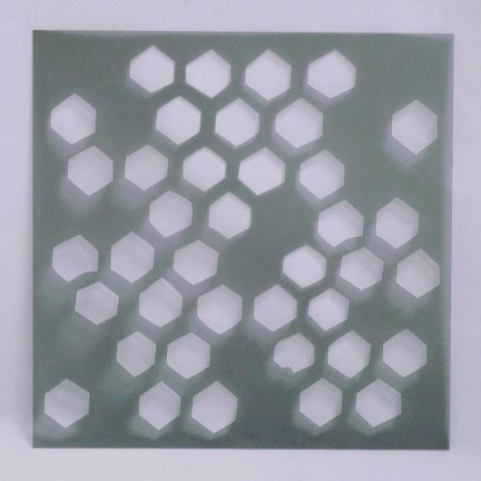 Textielverf en meer stencil 15x15cm honingraat