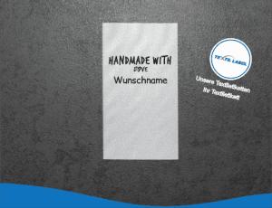 Wunschname Handmade with Love Namensetiketten W012