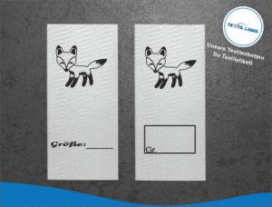 Textiletiketten für Größenbeschriftung Fuchs M001002