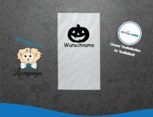 Namensetiketten mit Halloween Kürbis Motiv W042