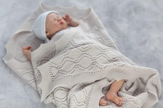 ажурный плед для новорожденного