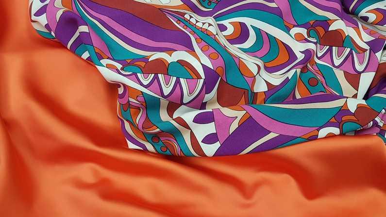 Συνδυάζοντας τα υφάσματα torino neon viskose print