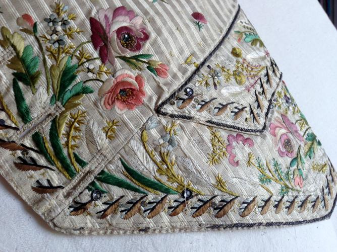Pocket Detail, Embriodered Waistcoat 1775-85