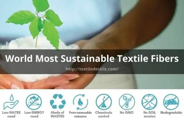Sustainable Textile Fibers