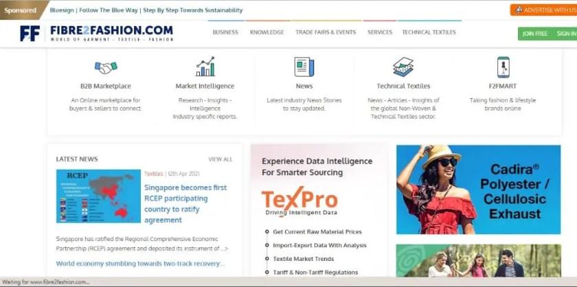 5. Best Textile Websites: Fibre2Fashion