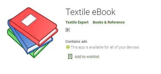 Textile eBook textile apps