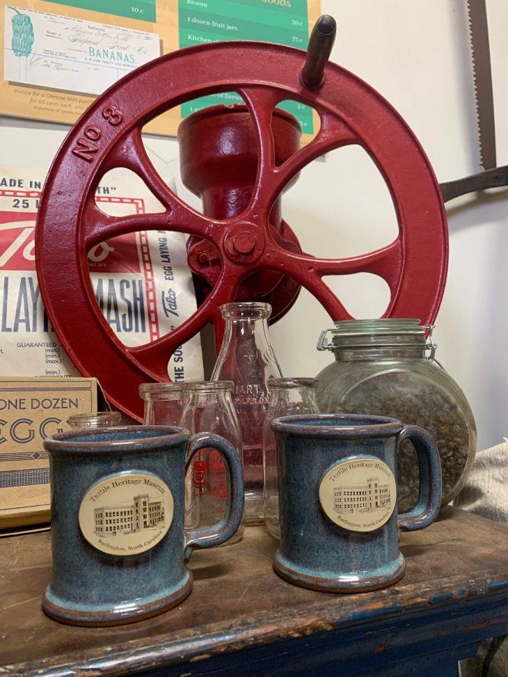 gift shop stone mugs