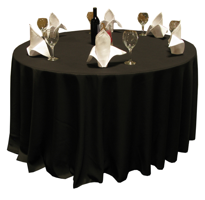 Harmony 120 Round Polyspun Table Cloths Black