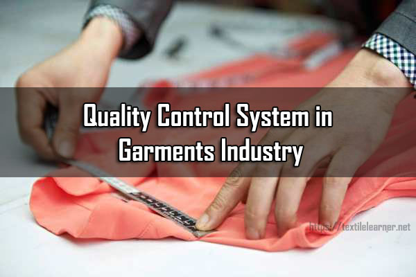 Quality Control in Garments Industry