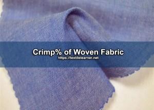 crimp percentage of woven fabric