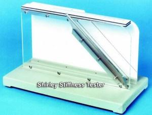 fabric stiffness test by Shirley Stiffness Tester