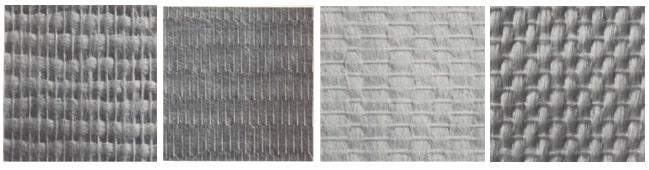 Different weaves of glass fiber