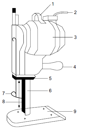 Parts of straight knife cutting machine