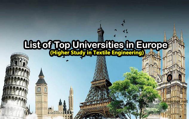 Top textile Universities in Europe