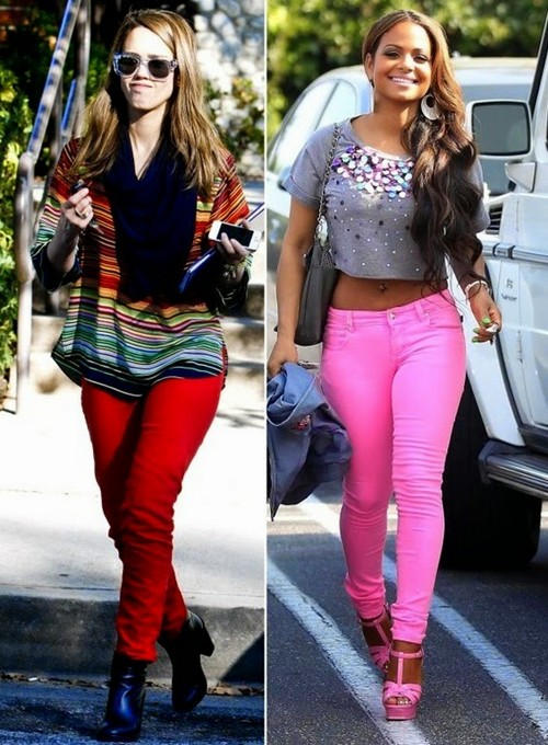 Coloured Jeans Fashion Trend