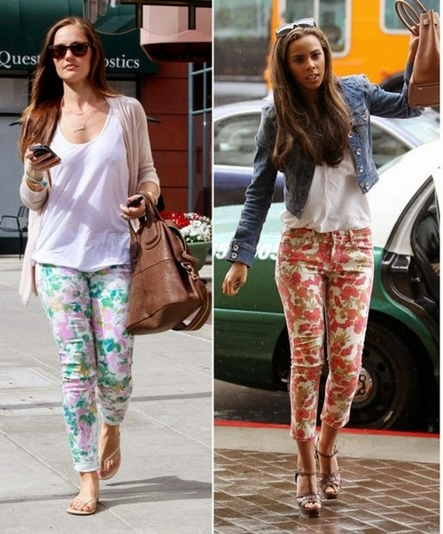 Floral Jeans Fashion Trend