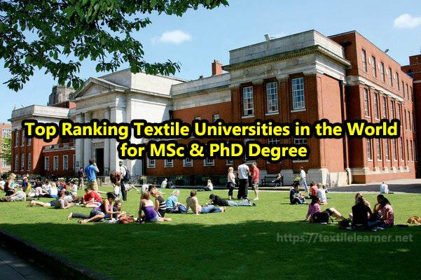 Top Ranking Textile Universities