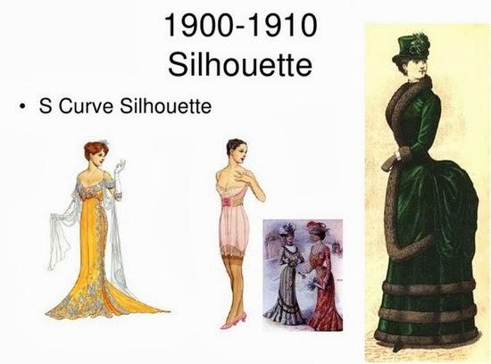 Fashion silhoutte 1900-1910