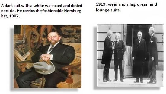 Mens homburg hat and morning dress 1910-1920