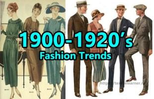 fashion trends 1900-1920