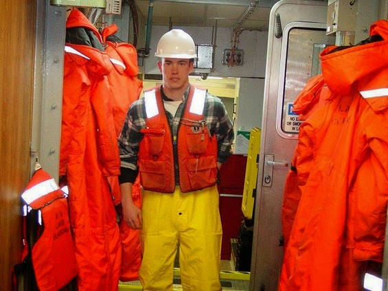 A man wearing a life vest